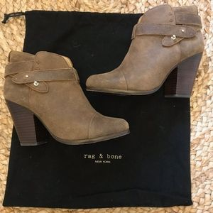 Rag & Bone Harrow Booties- Taupe Suede